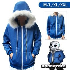 New-Undertale-Sans-Hoodie-Coat-Sweatshirt-Cap-Cosplay-Costume-Zipper-Outer-Otaku