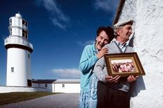 Larry and Pauline Butler, lighthouse keepers, Galley Head, Co. Cork