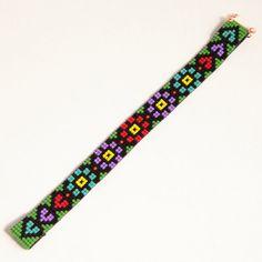 Items similar to Guatemalan Fantasy Bead Loom Bracelet Artisanal Jewelry Southwestern Native Inspired South American Colorful Beaded Bracelet on Etsy Bead Loom Bracelets, Beaded Bracelet Patterns, Woven Bracelets, Beading Patterns Free, Seed Bead Patterns, Chevron Friendship Bracelets, Fuse Beads, Bead Jewellery, Loom Beading