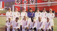 Back row: Osman, van Himst, Summerbee, Stallone, Wark,