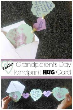 Send a hug: Grandparents Day toddler craft