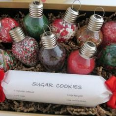 This site is loaded with great Holiday gift ideas. Love the idea of putting sprinkles in ornaments!