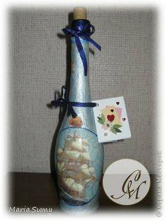 Itens de decoração Decoupage cracelures Garrafas e frascos de vidro define Guardanapos 9 fotos