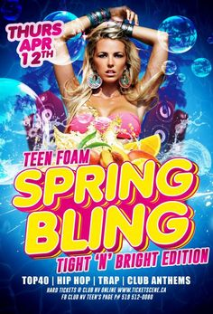 Teen Foam Spring Bling Tight n Bright Edition | Mr Turn Up, Brantford, ON live at Club NV - April 12, 2018 #foamparty, #clubnv, #brantford, #mrturnup
