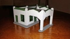 Sinclair gas station HO scale - Roof tiles complete Ho Scale Trains, Roof Tiles, Gas Station, Table Lamp, Building, Home Decor, Table Lamps, Decoration Home, Room Decor