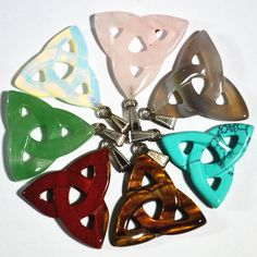 new 2016 hot!  High Quality Blending fashion Natural Stone Hollow triangle pendants for jewelry making 10pcs/lot free shipping