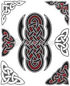 Набор элементов, кельтский дизайн — Векторная картинка #3853391