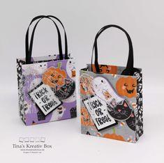 Blog Hop inspireINK – Halloween Täschchen – mit Produkten Stampin' Up! Halloween Taschen, Halloween Bags, Trick Or Treat, Stampin Up, Blog, Reusable Tote Bags, Community, Book Folding, Stocking Stuffers