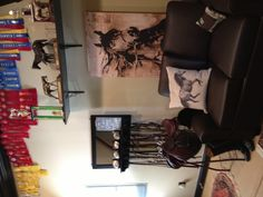 Comfy hang out area in someone s Tack Room