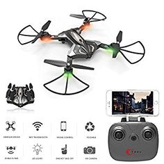 8 Physport Foldable RC Drones With HD Camera Remote Control Quadcopter Live Video Wifi