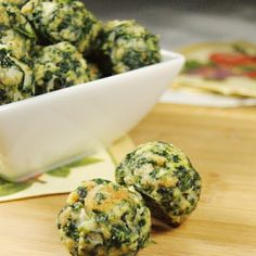 Spinach Balls - great for a cocktail party or a quiet Friday night at home.