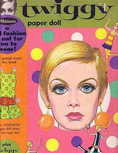 Twiggy Paper Doll Cover  - retro design
