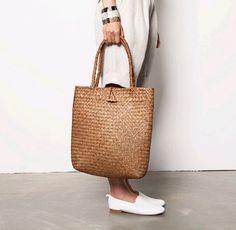 Bolso de las mujeres hechas a mano de la armadura de la paja bolso de hombro del totalizador del bolso de la playa del verano bolsa marrón