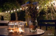 Rincón con decoración de velas. Wedding by Detallerie. Corner with candles. Wedding by Detallerie.