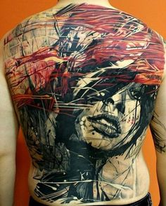 Abstract Tattoo... Words escape me on this one