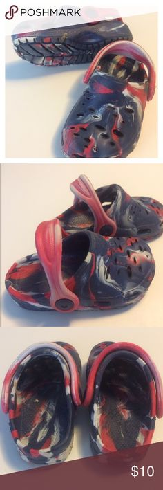 Great for the beach Toddler patriotic shoes. Just like crocks but not crock brand. In great shape. Only worn a few times. Some dirt but no major markings. So many miles left on these shoes. Shoes Sandals & Flip Flops