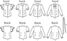 Butterick: HOLY GRAIL OF PATTERNS: SHORT SLEEVE BLOUSE WITH PETER PAN COLLAR AND PUFF SLEEVE