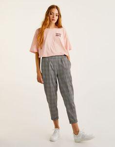 Pull&Bear - mujer - ropa - camisetas - camiseta texto - rosa - 09236308-I2017