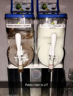 Freeze! The reality star shared the image of the dispensers, alongside an approving caption