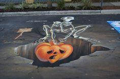 3D Chalk Art ... Sidewalk Street Art