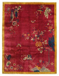 An art Deco antique Chinese carpet from CarpetVista.com