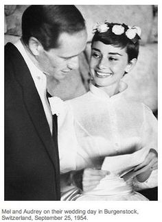 """Audrey Hepburn first got engaged to a man called James Hanson. She called off her wedding when she was in Italy filming """"Roman Holiday"""" and felt that the demands of their careers would keep them apart most of the time."""""""