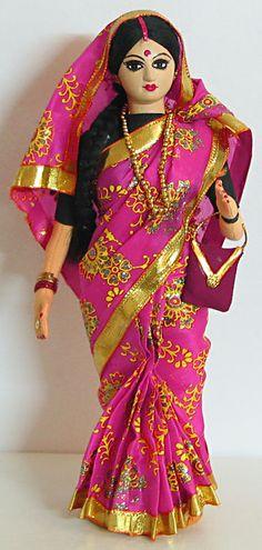 Женат индийские женщины в сари - Ткань