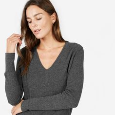 Warm, soft, lightweight, and timeless—this cashmere v-neck is guaranteed to be a favorite.