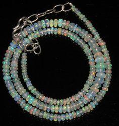 "31 Ctw 1 Strands 2 to 5 mm 16""Beads necklace Genuine Ethiopian Welo Opal 87353 #naturaljewelshub"
