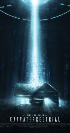 Extraterrestrial (2014) Directed by Colin Minihan.  With Brittany Allen, Freddie Stroma, Melanie Papalia, Jesse Moss. A group of friends on a weekend trip to a cabin in the woods find themselves terrorized by alien visitors.