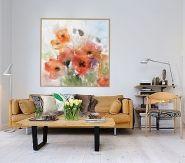 Cuadros de las nuevas imágenes Flores, floral Acuarela: Flores narajas - Decoración, ideas de decoración - Trabajo de decoraconimaginacion