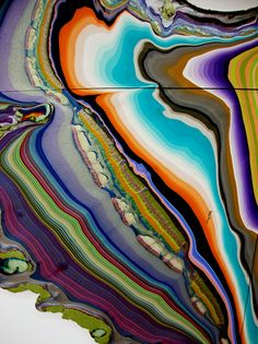 """alexandramoonage: """" Holton Rower - Untitled Pour Paintings(2010-11) """""""