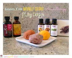 Gluten-Free Naturally Colored Aromatherapy Play Dough Recipe