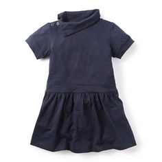 Deep Dive Funnel Neck Dress for Girls | Tea Collection. Annabelle