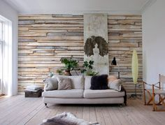 Whitewashed Wood Wall Mural 8-920 | Komar PhotoMurals Australia