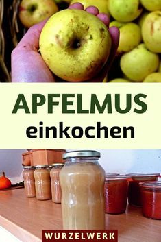 To boil applesauce: - Delicious Meets Healthy: Quick and Healthy Wholesome Recipes Eco Slim, Fruit Preserves, Bottles And Jars, Canning Recipes, Fruits And Vegetables, Cucumber, Watermelon, Easy Meals, Food And Drink