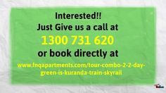 Tour pack combo 2-green-is-kuranda-train-skyrail Learn more about the combo 2 tour package #cairnsaccommodation, #palmcoveaccommodation #portdouglasaccommodation at http://www.fnqapartments.com/ or call 1300 731 620 for more info