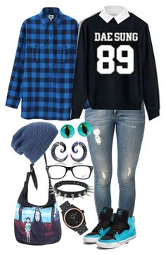 """BIGBANG Daesung Fan Autumn Outfit"" by minyxxngi ❤ liked on Polyvore featuring STELLA McCARTNEY, Ghibli, Uniqlo, Victoria Beckham, Phase 3, Ray-Ban, Supra, Nixon, bigbang and kpop"