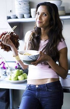 """Staying in shape is a challenge for TV beauty Padma Lakshmi, 45, host of Bravo's """"Top Chef,"""" which just concluded its most recent season last Thursday. """"To do my job well, I [have to] try one or tw…"""