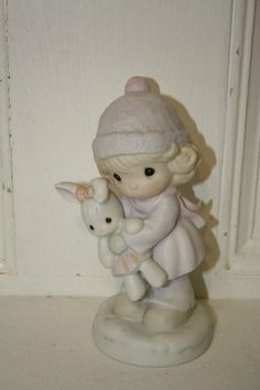 "Precious Moments 'Good friends are for always' porcelain figurine measures approx: 5.5"" x 2.5""D from 1991 #524123 MINT $15"
