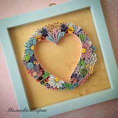 Heart quilling valentines квиллинг сердце