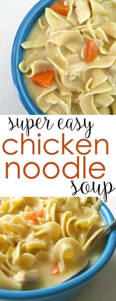 Easy Chicken Soup Recipe Here's a comfort food classic that's hearty and quick. It's an easy soup recipe that's simple to throw together.