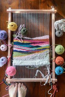 n a t a l i e m i l l e r Tapestry Weaving, Straw Bag, Blanket, Knitting, Crochet, Happy, New Ideas, Fabrics, Tejidos