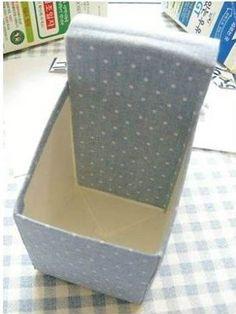 DIY Milk Carton Desk Organizer | GoodHomeDIY.com Follow Us on Facebook --> https://www.facebook.com/pages/Good-Home-DIY/438658622943462?ref=hl