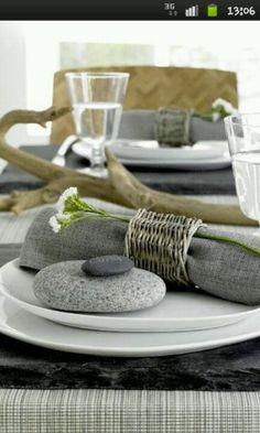 Tischdeko, Serviettenring aus Metall oder Kabel