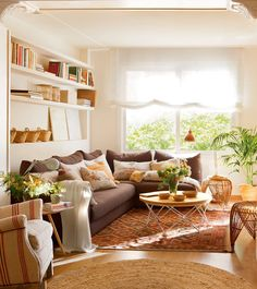 Start the home makeover by redesigning your living room with one or two or three of these 12 remarkable ways. Beautiful Living Rooms, Cozy Living Rooms, Beautiful Interiors, Home Living Room, Living Room Designs, Living Room Decor, Living Spaces, Moraira, Cozy House