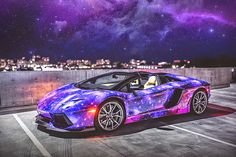 Seductive Luxury: 2014 Galaxy Lamborghini Aventador Roadster
