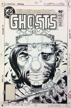 Original covers by Joe Kubert for various DC Comics. Anton, Joe Kubert, Black And White Comics, Bristol Board, Comic Page, Bronze Age, Comic Covers, A Comics, Comic Artist