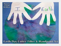 Coffee Filter Earth & Handprint Art for Earth Day #Momto2PoshLilDivas