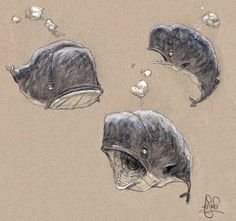 A Sketchy Past, The Art of Peter de Sève: Commercial Whaling Character Design References, Character Art, Images Google, Sea Life Art, Ocean Life, Illustration Art, Illustrations, Character Design Inspiration, Creature Design